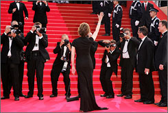 """Everybody goes to Cannes"": Even Jane Fonda, arriving for the premiere of her film Promise Me This last month at the Palais des Festivals."