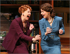 They can laugh now: But rivalries tug at the lifelong friendship of Milly (Harriet Harris, left) and Kit (Margaret Colin) in John van Druten's comedy revival.