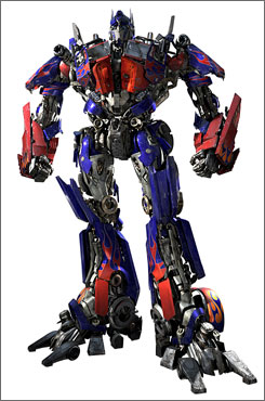 T-Optimus Prime: A force for good in Transformers, out Tuesday.