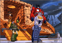 Circa 1986: Optimus in his animated prime on the big screen.