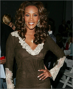 """According to a report, Vivica A. Fox, seen here in February, called a California Highway Patrol officer a """"racist white cop"""" during a  drunken driving arrest."""