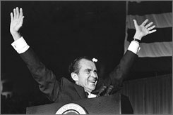 I am not a crook!: Good times, bad times with President Nixon in Nixon: A Presidency Revealed.