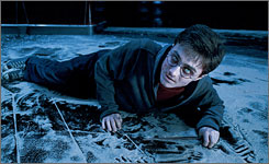 Boy wizard becomes a man: In Order of the Phoenix, Harry Potter (Daniel Radcliffe) must fight for his life  and his sanity and emotional stability  after much of the wizarding community dubs him a liar.