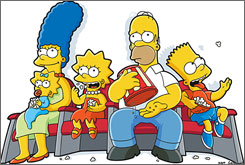Grab your popcorn: The Simpsons Movie is headed to Springfield, Vt.