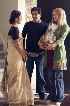 DVD on hold: Tabu, left, Kal Penn and Jacinda Barrett of The Namesake.