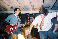 Wizard rock: Brothers Paul, left, and Joe DeGeorge started their band, Harry and the Potters, in 2002.