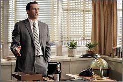 Run it up the flagpole: Jon Hamm is the standardbearer on AMC's Mad Men.