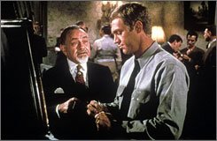High stakes: Edward G. Robinson and Steve McQueen.