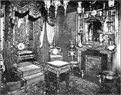 A sumptuous boudoir: Ada Everleigh and her sister, Minna, used the opulent Japanese Throne Room for entertaining male clients.