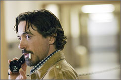 On the scene: Robert Downey Jr. in the true story of a serial killer.