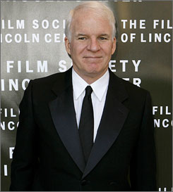 Steve Martin, seen here at an event in New York in April, married Anne Stringfield at his L.A. home Saturday.
