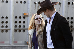 Saving Grace: Holly Hunter, with Bailey Chase, stars as a hard-living cop in the TNT series.
