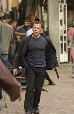 Fast on his feet: Matt Damon as ex-CIA agent with amnesia.