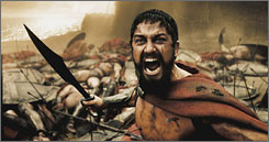 300 strong: Gerard Butler is Leonidas, king of Sparta, who leads his elite fighters against Persian invaders.