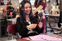 You go, girlz: Janel Parrish stars as Jade, one of four trendy friends, in a film based on popular Bratz dolls.