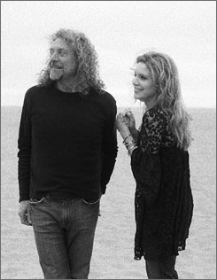 Duo: Robert Plant of Led Zeppelin and Alison Krauss of Union Station.