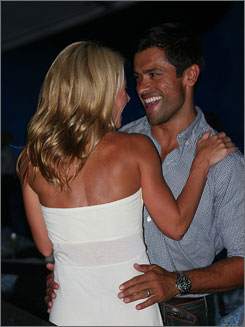 Shall we dance?: Mark Consuelos and Kelly Ripa boogie at Saturday's Social @ Ross concert.
