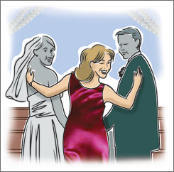 Mother knows best: Grooms' mothers are becoming more involved in today's weddings.