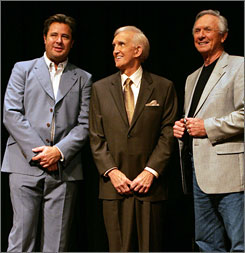 Country star Vince Gill,  left, television and radio personality Ralph Emery, center, and singer and humorist Mel Tillis  are the Country Music Hall of Fame's Class of 2007.