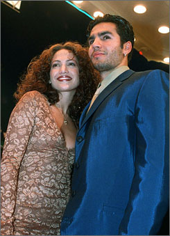 Jennifer Lopez, shown here with ex-husband Ojani Noa in 1997, has been awarded nearly $545,000 in a lawsuit against him.