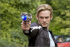 His aim is not true: Eric Johnson stars as Flash Gordon in the Sci Fi Channel's version of the comic.