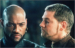 Menace in Venice: Laurence Fishburne, Kenneth Branagh in 1995's Othello.