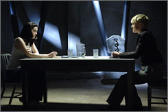 Bionic banter: Michelle Ryan, left, stars as Jaime Sommers. Molly Price plays Ruth.