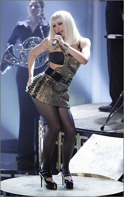 Gwen Stefani, shown here at the 2006 American Music Awards, is no stranger to revealing outfits.
