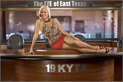 The legend of Lauren Jones: The former WWE diva becomes an anchor for KYTX in Tyler, Texas, on the Fox reality show, premiering Wednesday.
