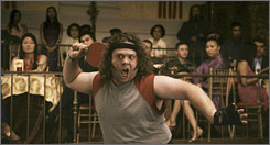 Game face: Dan Fogler plays a table tennis prodigy who attempts to make a comeback.