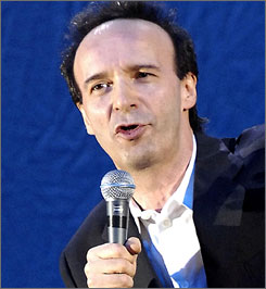 "After a man fired off shots during a reading by Oscar winner Roberto Benigni, he interrupted Dante's The Divine Comedy to ask, ""What, is hell here, too?"""