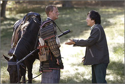 Hiro (Masi Oka) meets his Samurai hero, Takezo Kensei (David Anders), in the past.