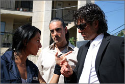 Larceny on their minds: Ivonne Montero, left, Miguel Varoni, and Fernando Colunga.