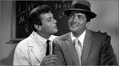 Imposter: Tony Curtis, left, and Martin pose as FBI agents in Who Was That Lady .