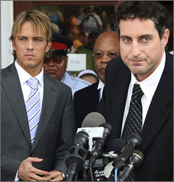"Larry Birkhead, left, promises that  the case he and Howard Stern plan to bring against against Rita Cosby will  be ""one of the most expensive lawsuit settlements in book-publishing history."""