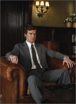 Sitting out: Peter Krause is on the fringes of Dirty Sexy Money.