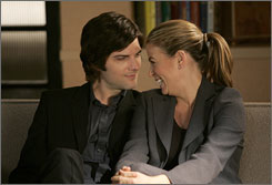 Any sexual means necessary: Palek (Adam Scott) and Carolyn (Sonya Walger) are trying to have a baby.