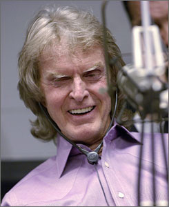 Don Imus during Rev. Al Sharpton's radio show in New York on April 9.