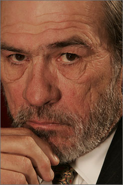 "Tight-lipped: Want to know Tommy Lee Jones' politics? ""The only way ... is to look at my work."""