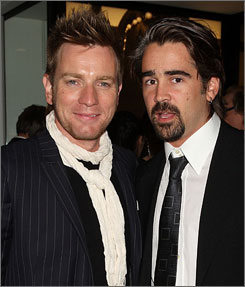 Ewan McGregor, left, says many of the myths he'd heard about his Cassandra's Dream director Woody Allen were just that. Meanwhile, co-star Colin Farrell was simply grateful to find a good burger in Toronto.