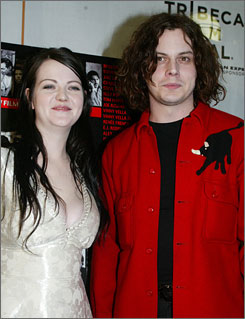 Meg White and Jack White of The White Stripes apologized on their website for canceling upcoming tour dates   because Meg &quot;is suffering from acute anxiety&quot; and can't travel.