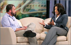 Oprah Winfrey gave James Frey a dressing-down on her show after it was discovered that parts of his memoir A Million Little Pieces had been fabricated or embellished.