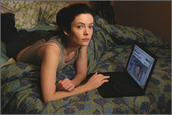 Social-networking series: Bitsie Tulloch plays Dylan Krieger in the Internet-based drama series quarterlife. The show premieres on myspacetv.com on Nov. 11.