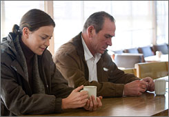 Charlize Theron and Tommy Lee Jones star in Paul Haggis' tale of the human cost of war.