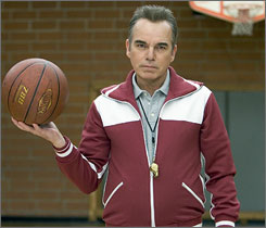 Billy Bob Thornton plays a sadistic basketball coach in Mr. Woodcock.