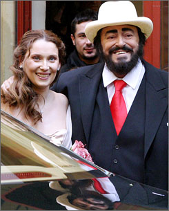 Opera legend Luciano Pavarotti, who died Sept. 6, made sure that second wife Nicoletta Mantovani, left, was well taken care of in his will.