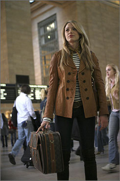 Lively: Clean Serena is back at school in the CW's Gossip Girl.