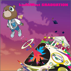 Head of the class: Kanye West's Graduation sold more than 950,000 copies in the first week.