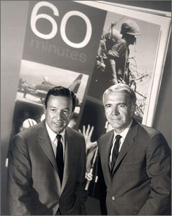 In 1968: 60 Minutes correspondents Mike Wallace, left, and Harry Reasoner, who died in 1991.
