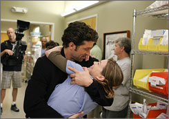 "Up in the air: Patrick Dempsey says his character, Derek ""McDreamy"" Shepherd, and Ellen Pompeo's Meredith Grey ""are sort of treading water."""